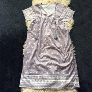 Misslook boho hippie gray caftan peasant dress M